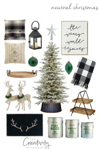 Neutral Christmas Design Board