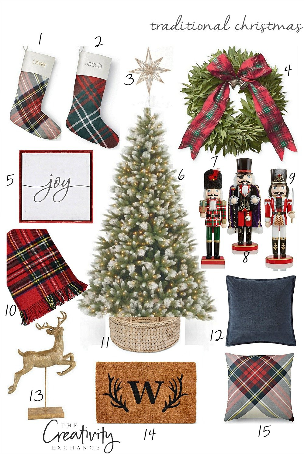 Traditional Christmas Design Board With Product Sources