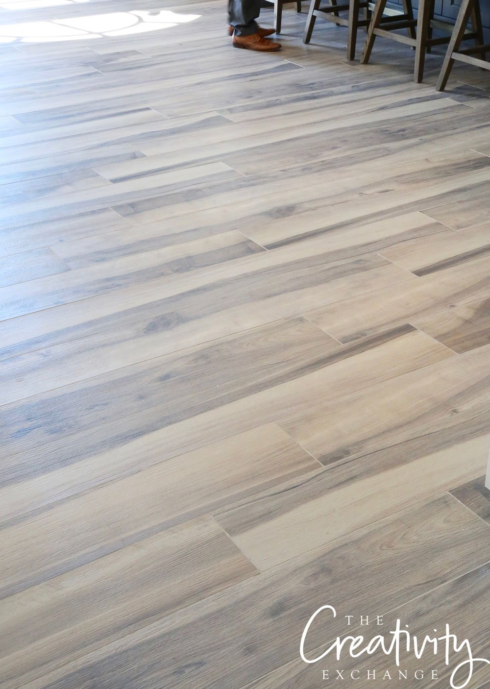 White oak flooring. Custom stain.