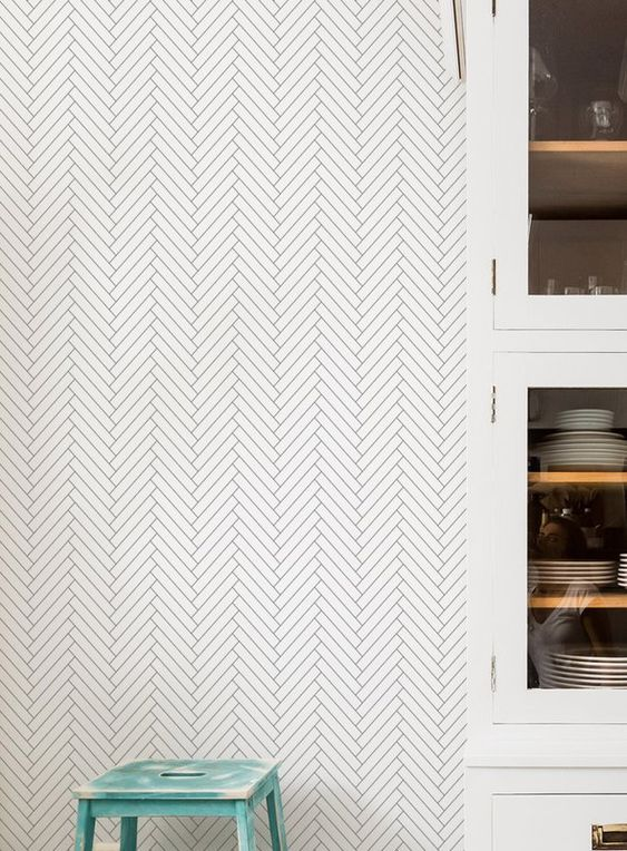 Peel and stick geometric wallpaper