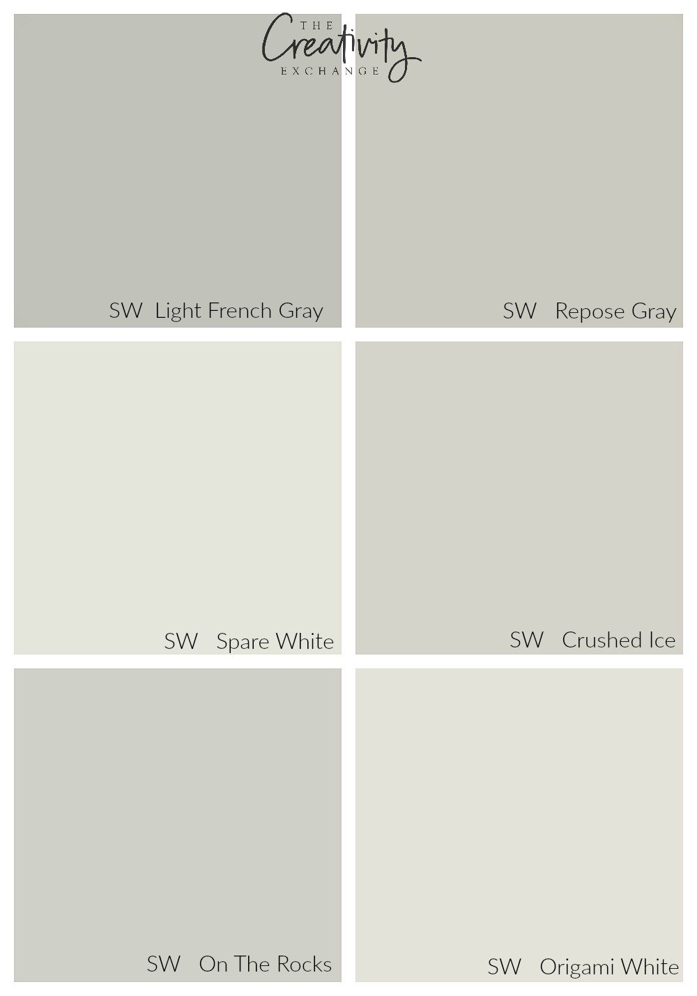 Comparing Sherwin Williams Light French Gray to other popular colors.