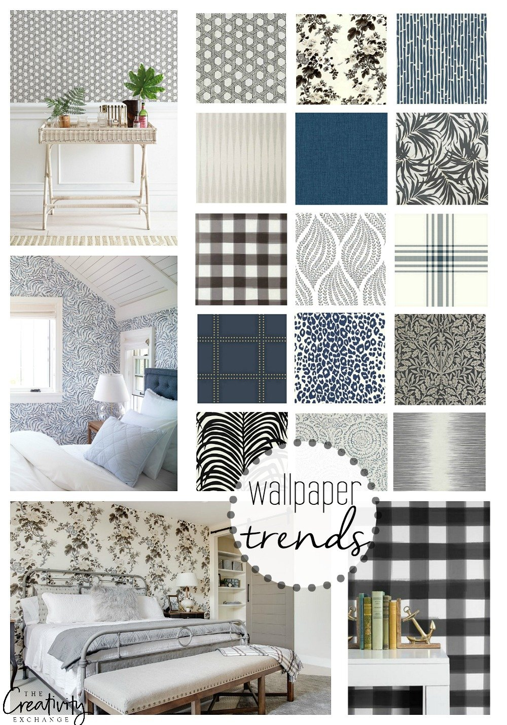 Wallpaper trends and creative ways to use them