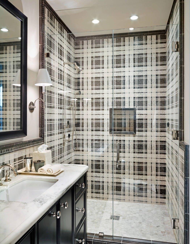 Plaid Bathroom Wall