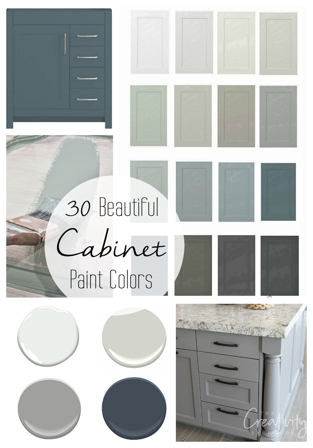 30 Beautiful Cabinet Paint Colors for Kitchen and Baths