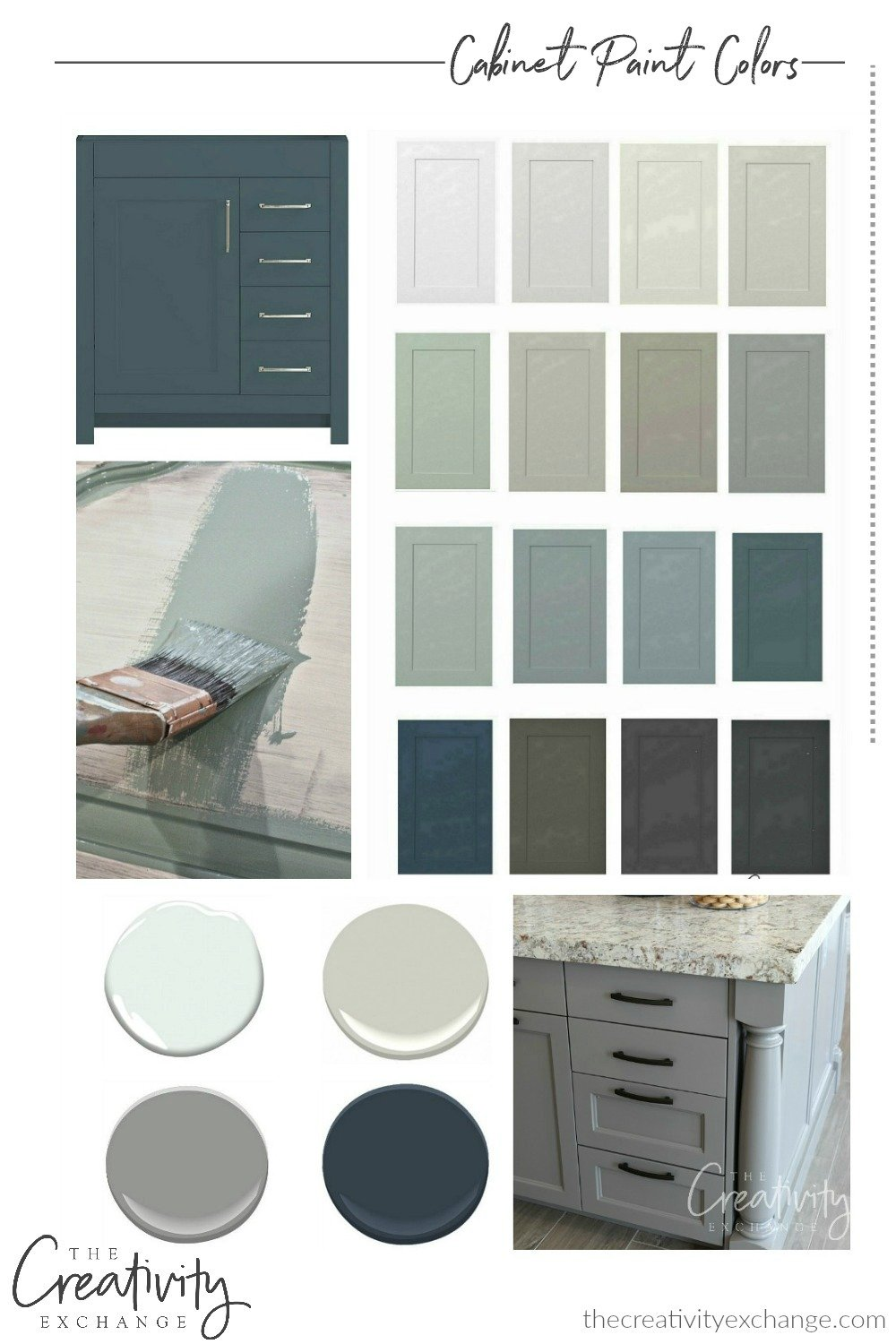 30 Beautiful Cabinet Paint Colors for Kitchens and Bathrooms