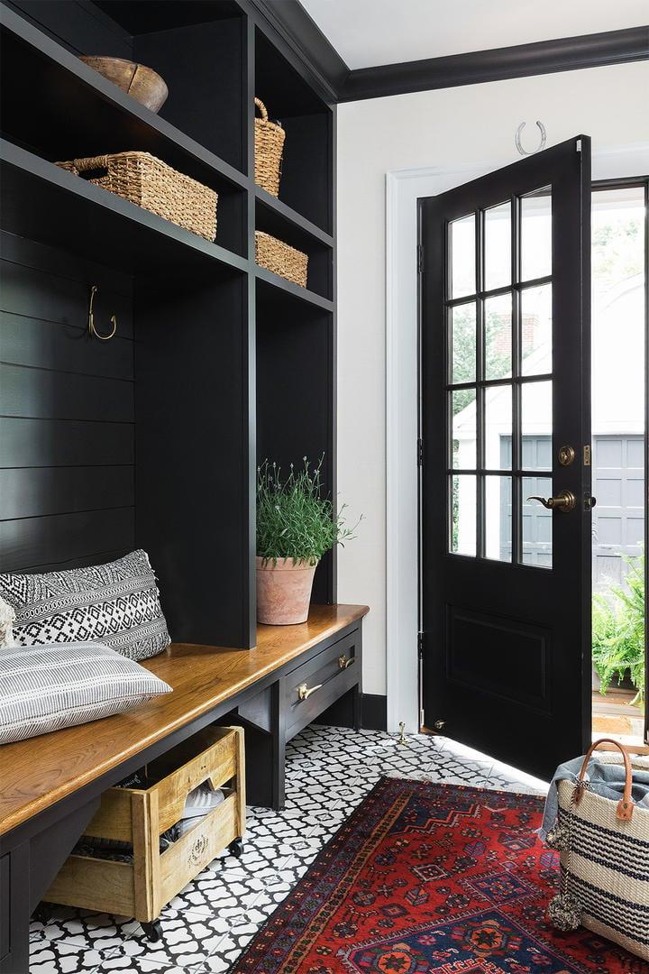 Cabinet color is Benjamin Moore Black Onyx