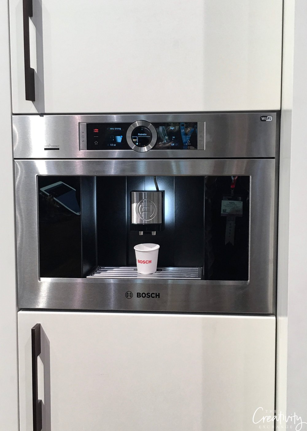 Built in cabinet coffee dispenser