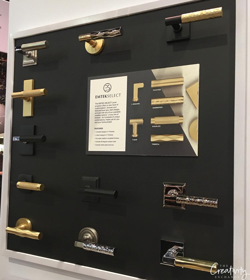 Emtek door handles shown at KBIS