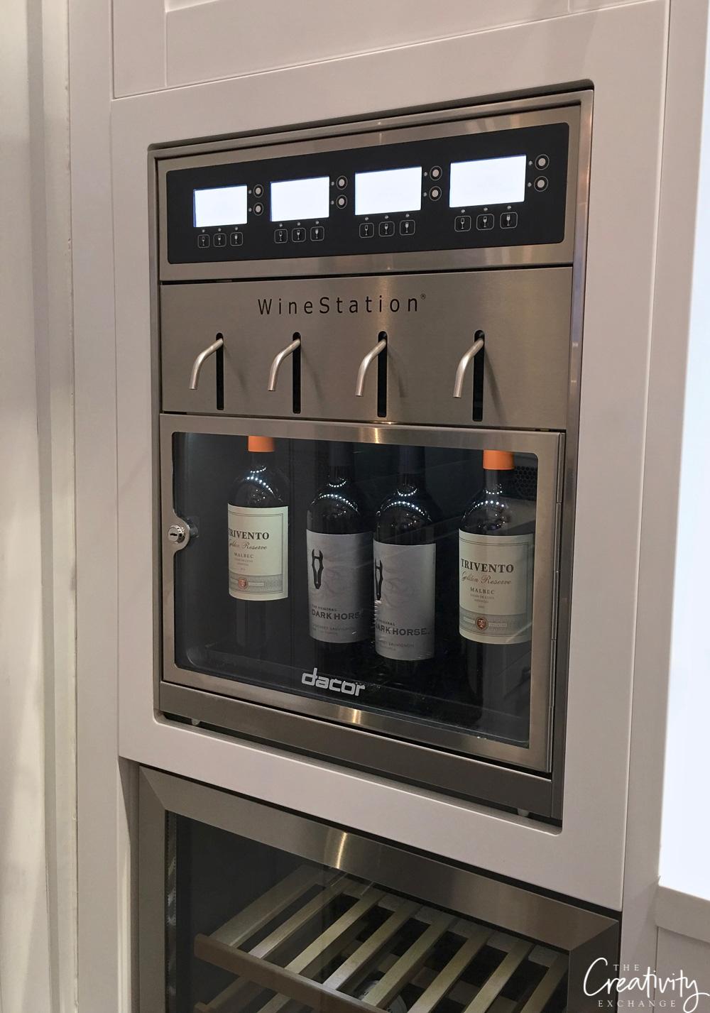 Built in wine server