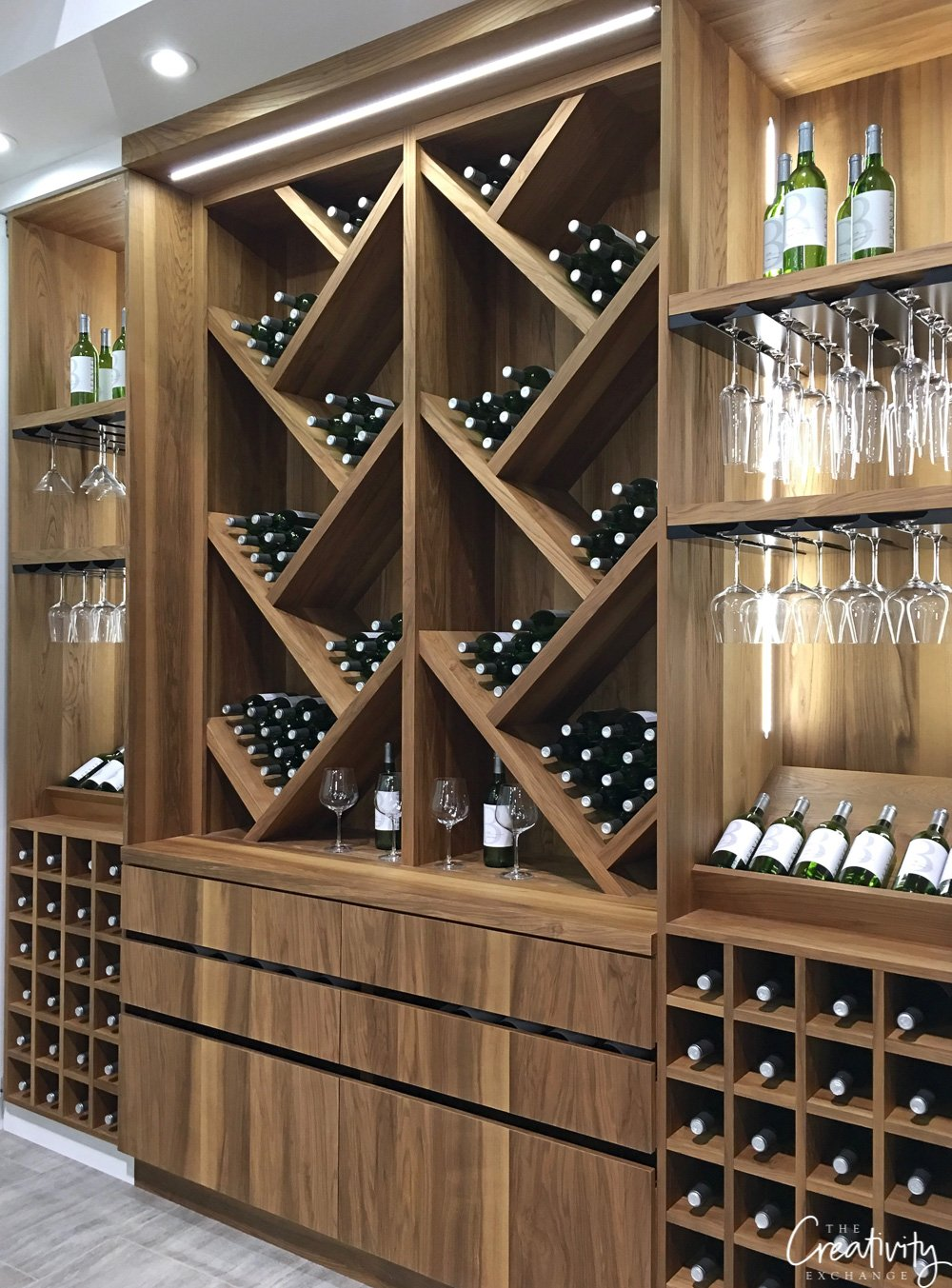 Built in wine storage cabinetry