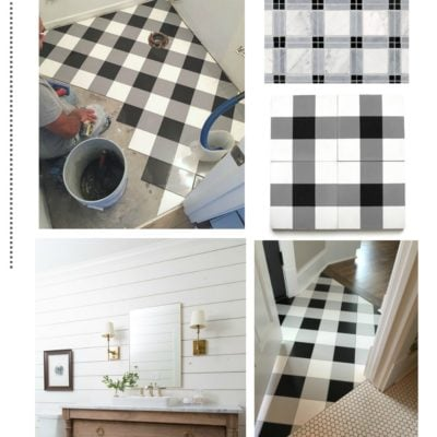 Beautiful Plaid Floors: Inexpensive Options