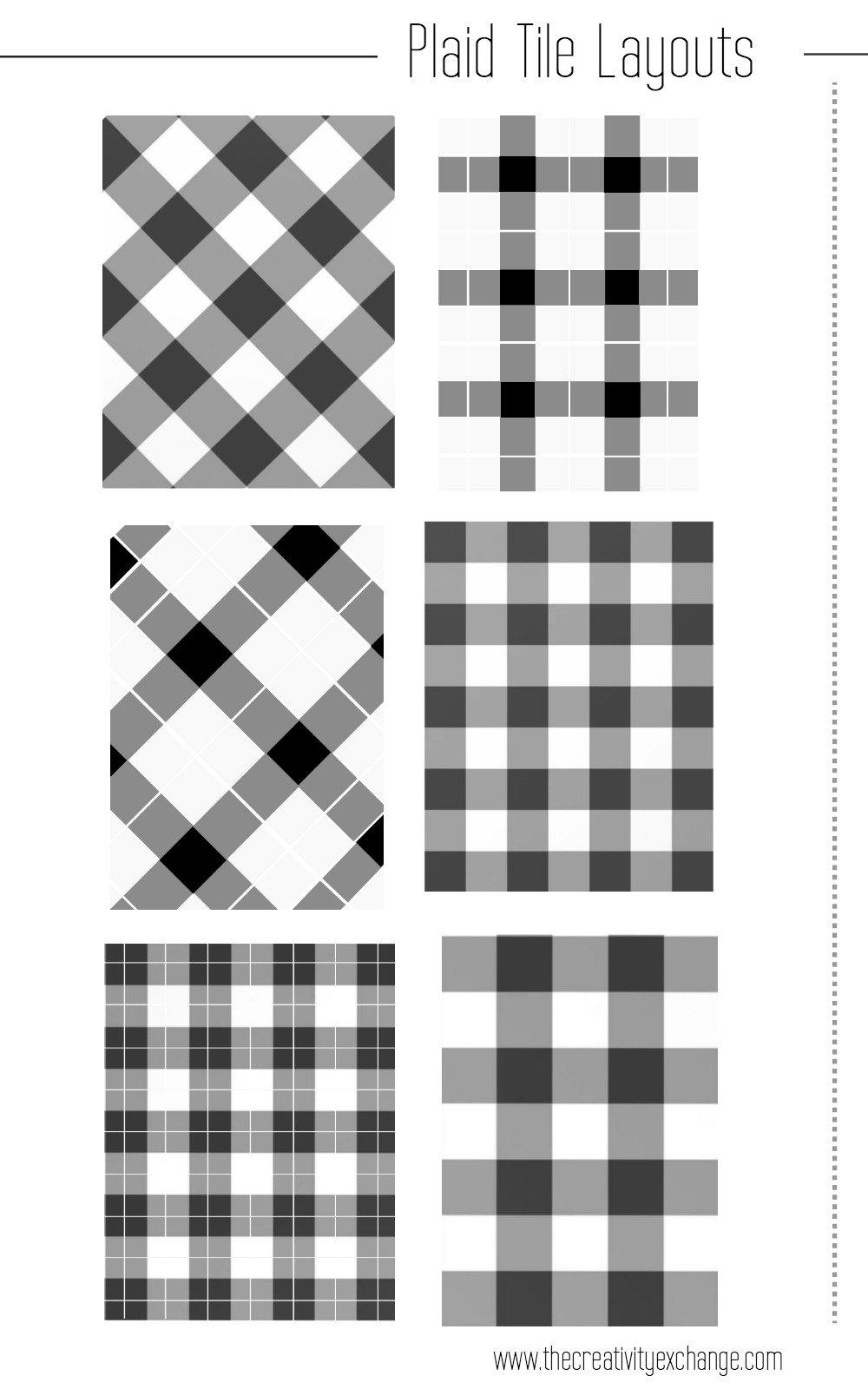 Plaid Tile Layout Design Patterns