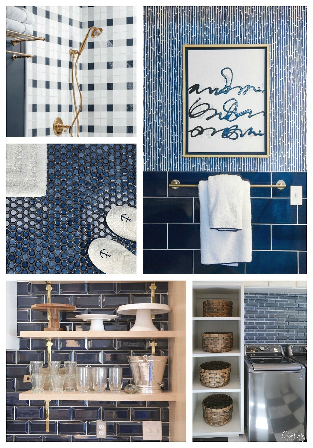 Tips for Incorporating Navy Tile