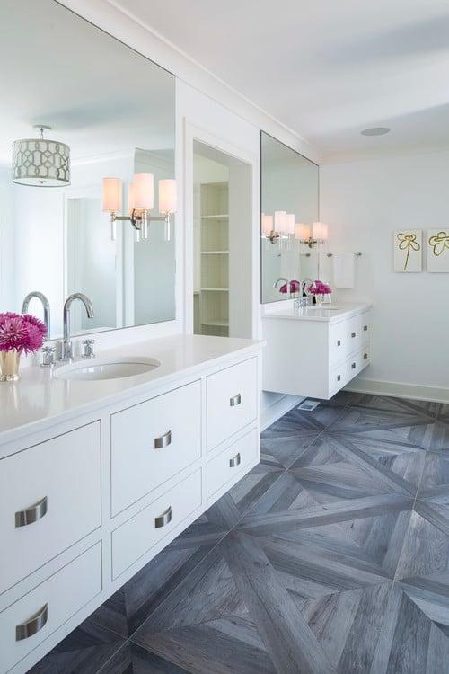 Wall color is Sherwin Williams High Reflective White. Martha OHara interiors.