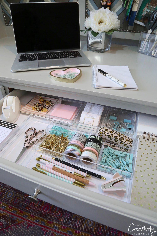 Office desk drawer organizing tips