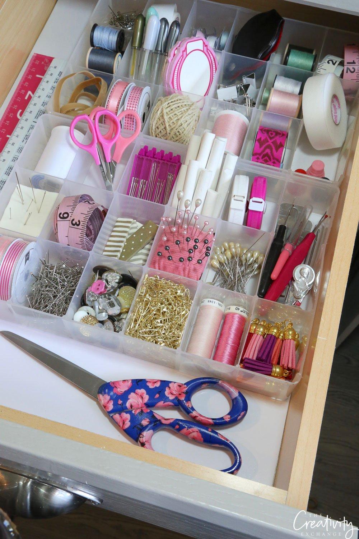 Organized Sewing Drawer