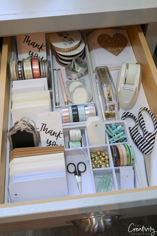 Gift warp and stationary drawer