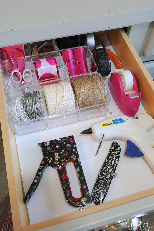 Organized crafting drawer