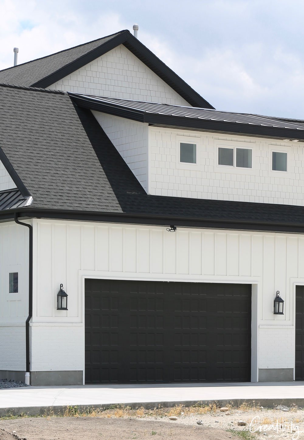 Modern Farmhouse Garage