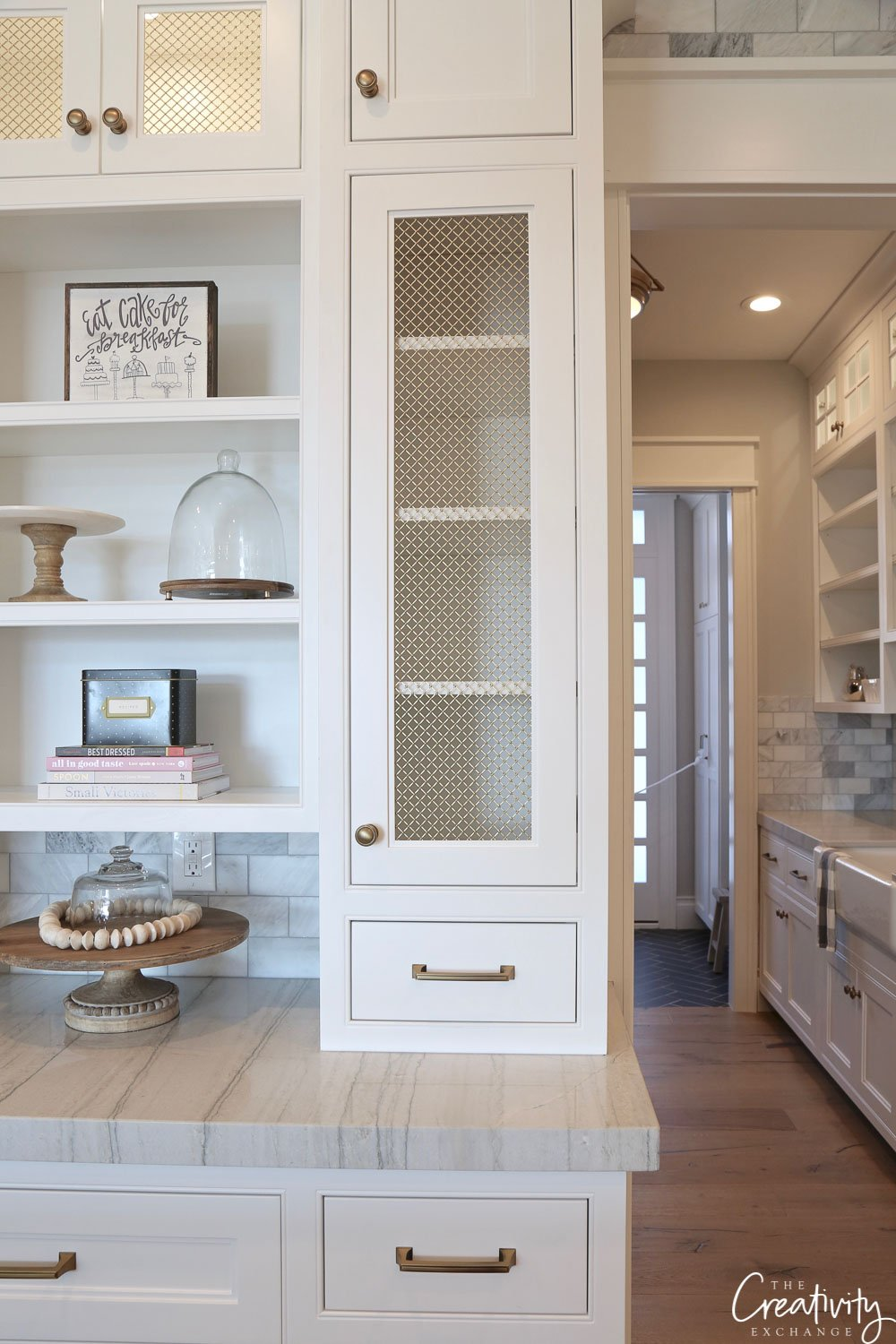 Kitchen storage and shelving for dish ware