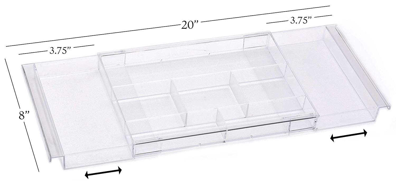 Expandable clear plexi drawer organizers