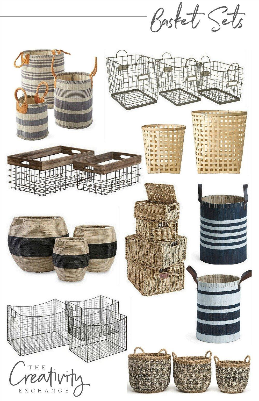 Beautiful basket sets for organizing