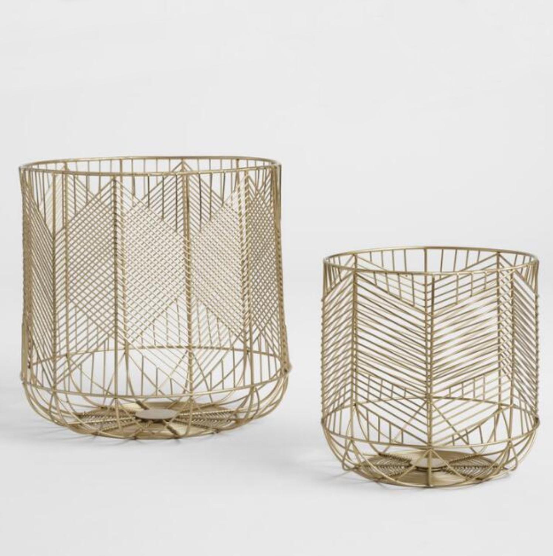 Gold wire baskets
