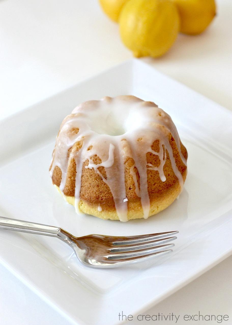 Lemon Blossom Bundt Cakes