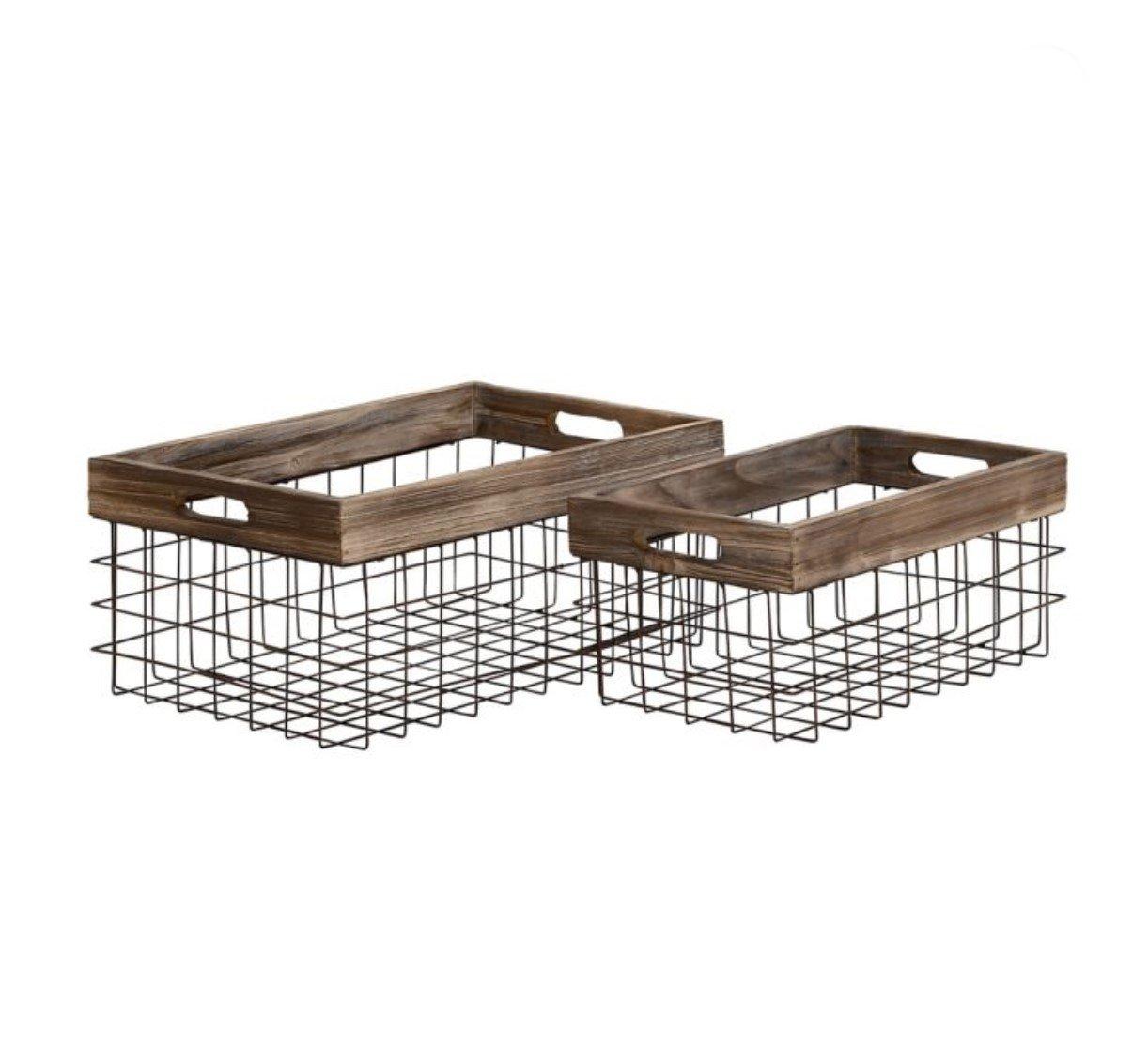 Wood and iron basket