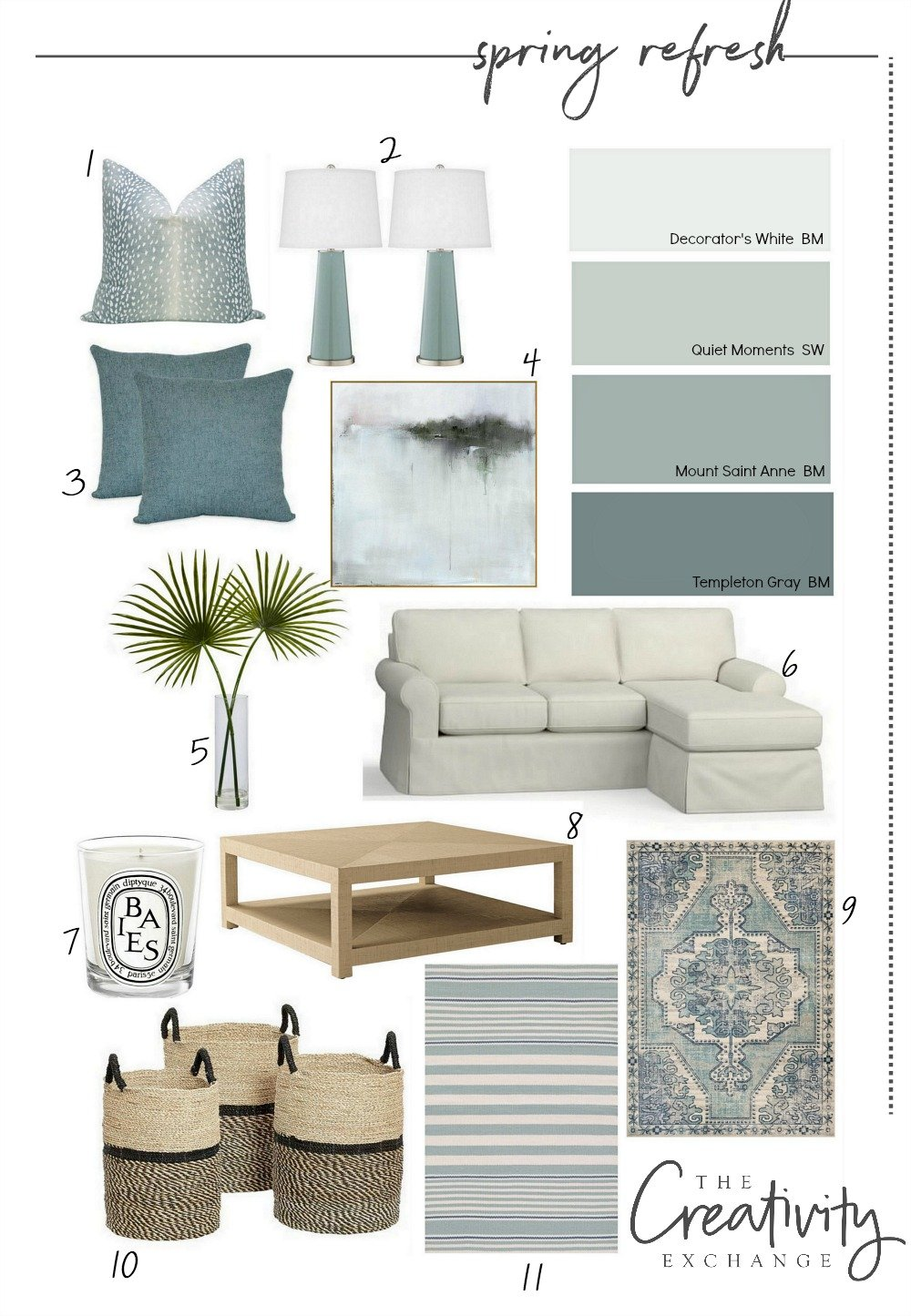 Spring home refresh design board