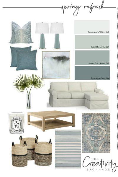 Spring refresh design mood board