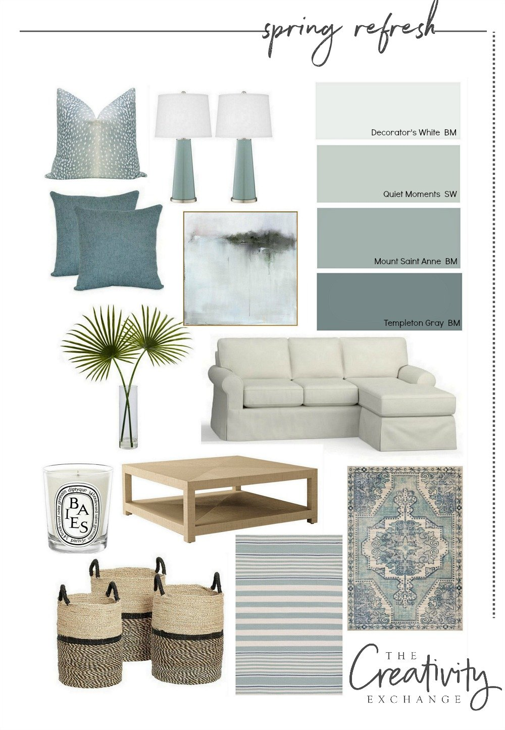 Spring refresh design mood board