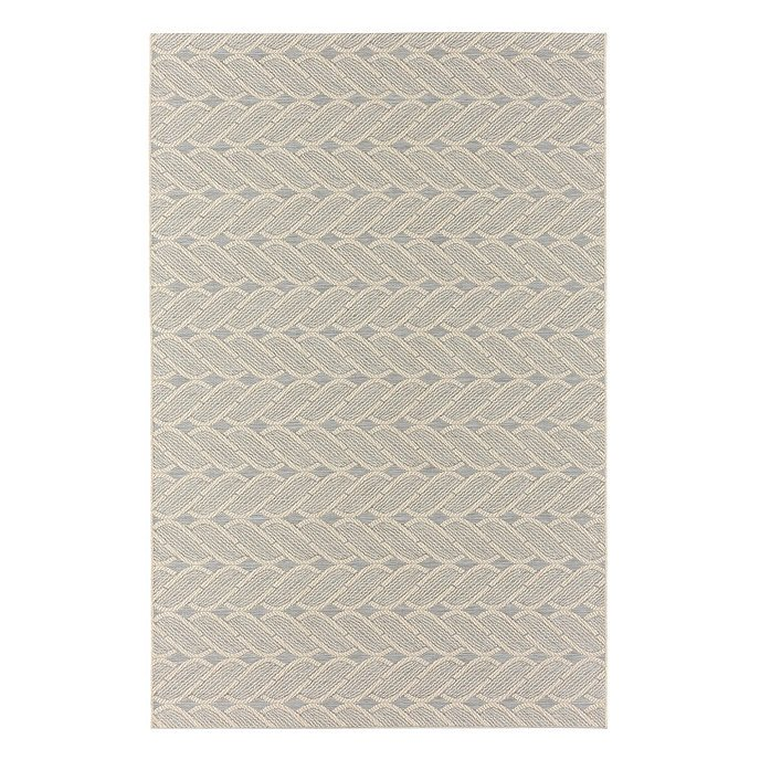 Cable Knit Gray Indoor Outdoor Rug