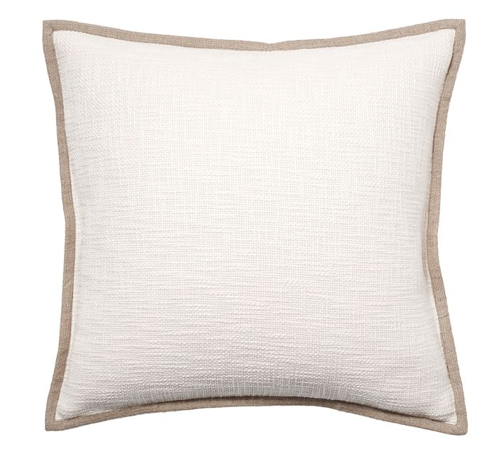 Ivory linen pillow cover from pottery barn