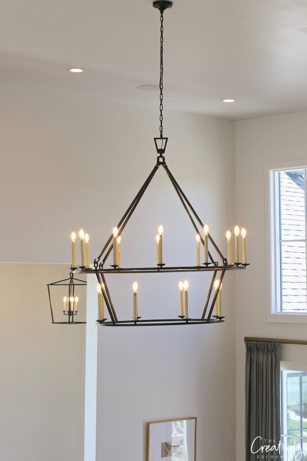 Iron chandelier light fixture