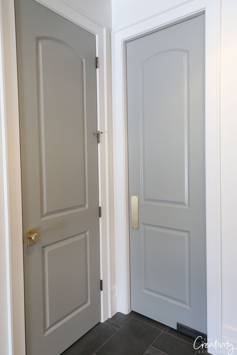 Door color is Farrow and Ball Lamp Room Gray