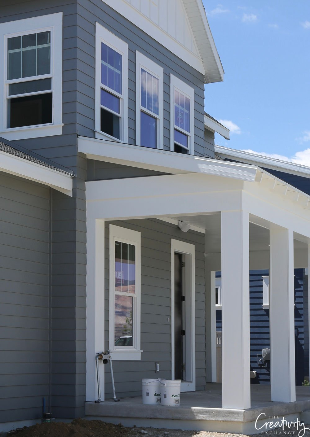 Dark gray exterior paint color
