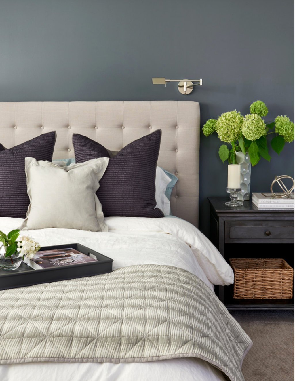 Wall Color is Benjamin Moore Knoxville Gray