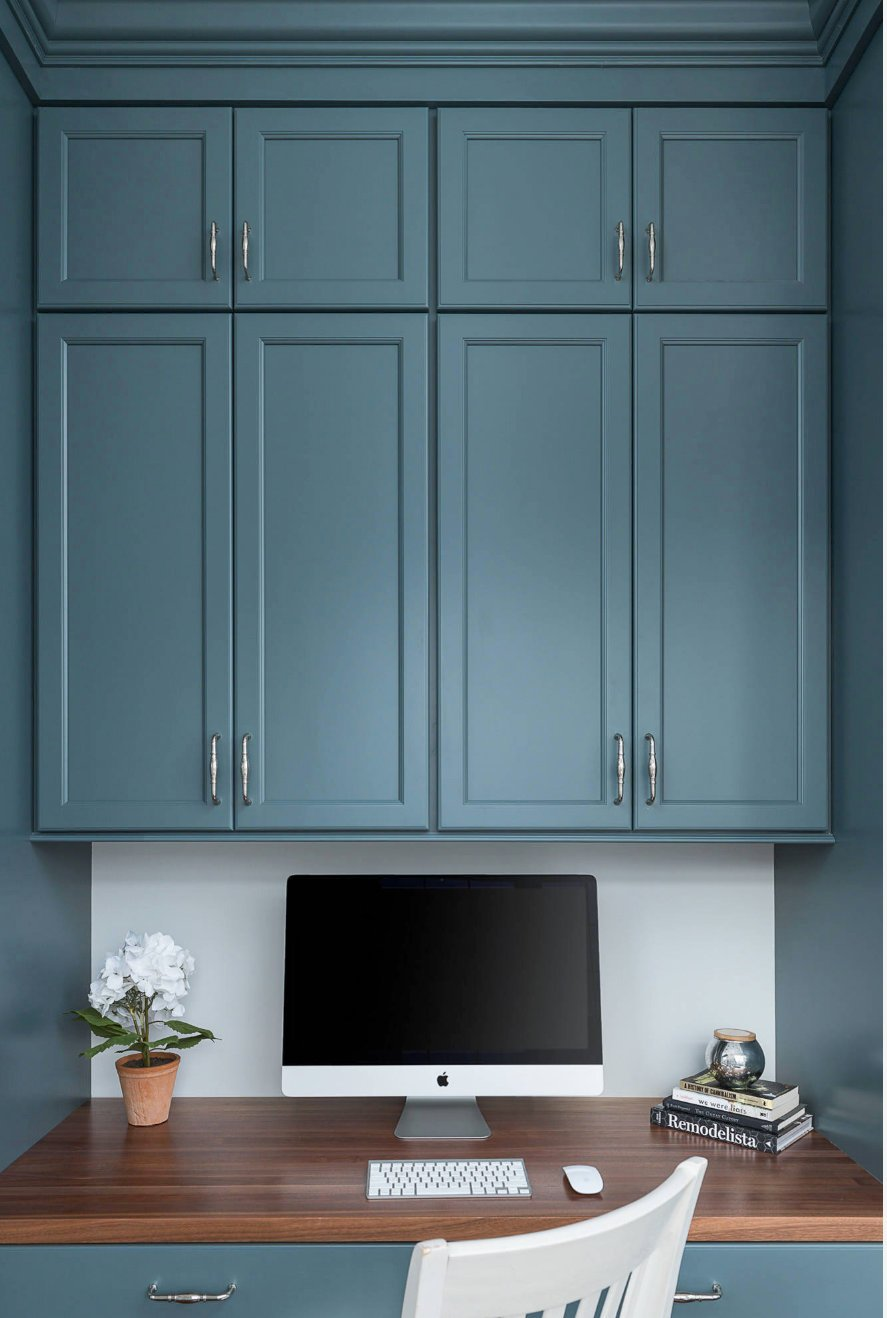 Cabinets painted with Benjamin Moore Knoxville Gra