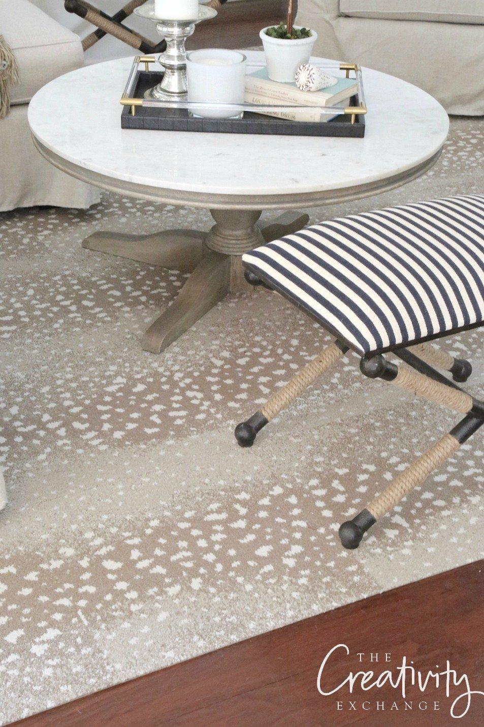 Antelope patterned rug