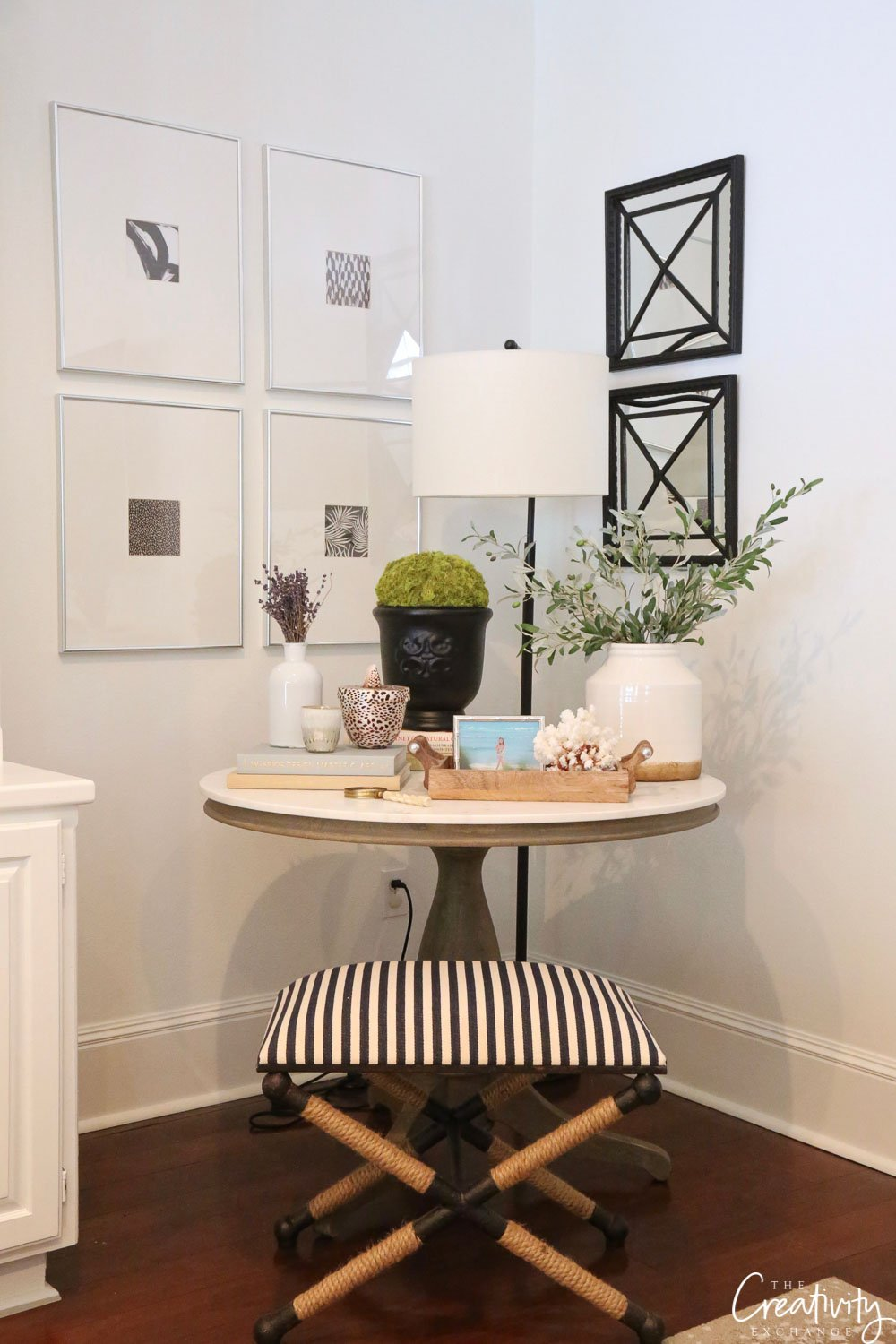 Wall Color is Benjamin Moore Decorator's White