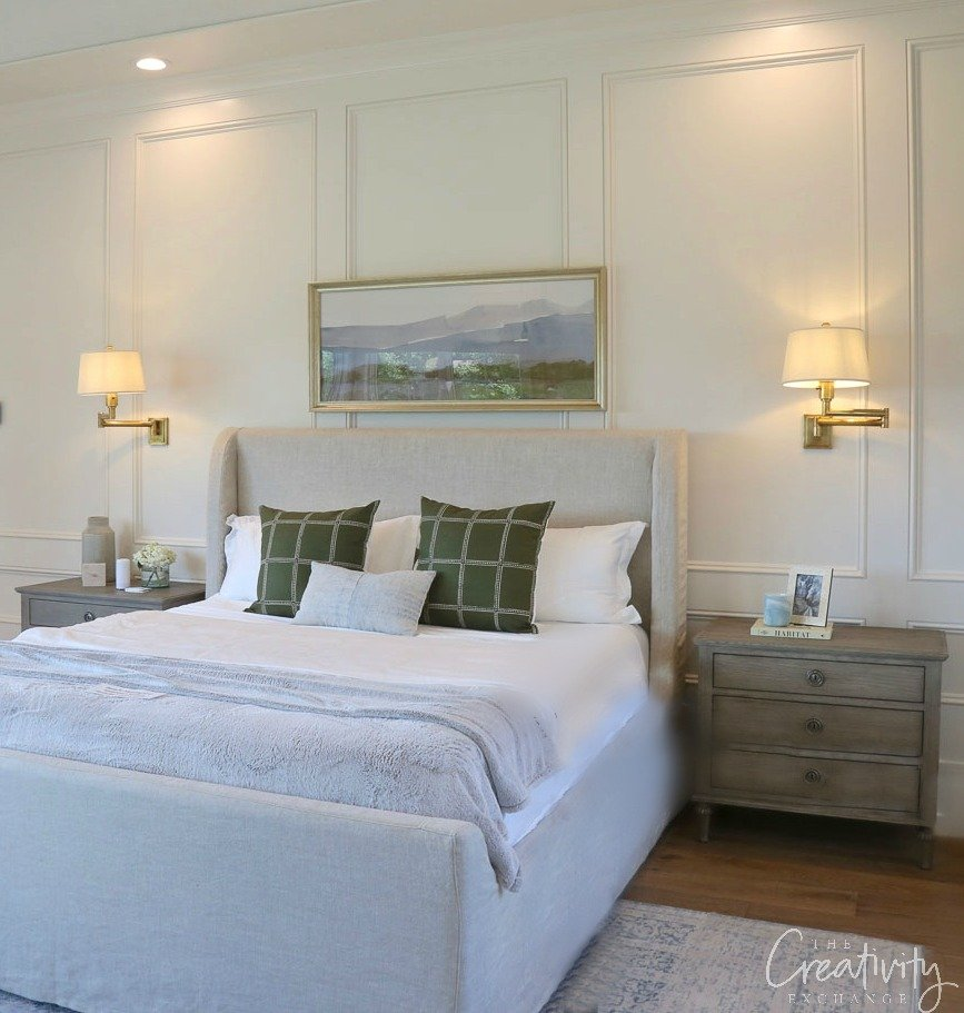 Bedroom Wall Color is Benjamin Moore China White