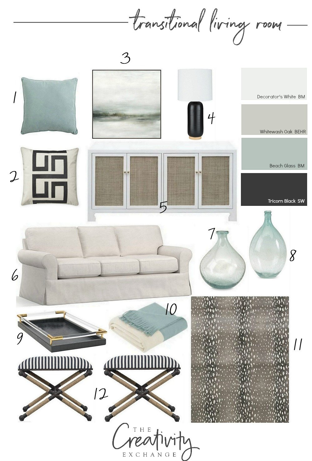 How to create a color palette for a space