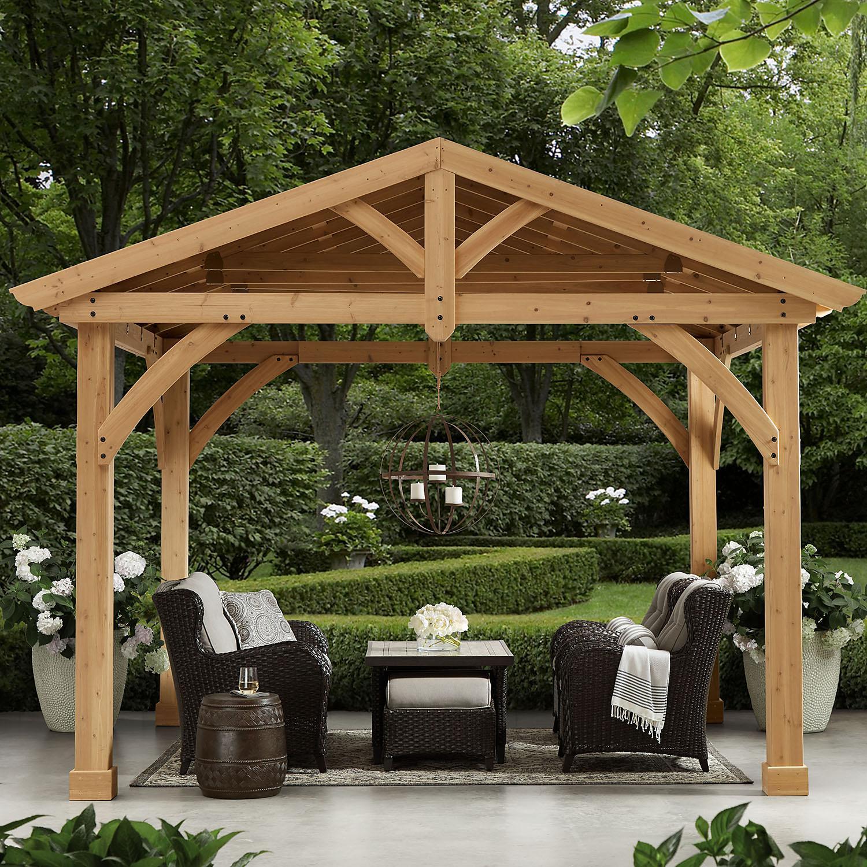 9 x 9 outdoor cedar pergola