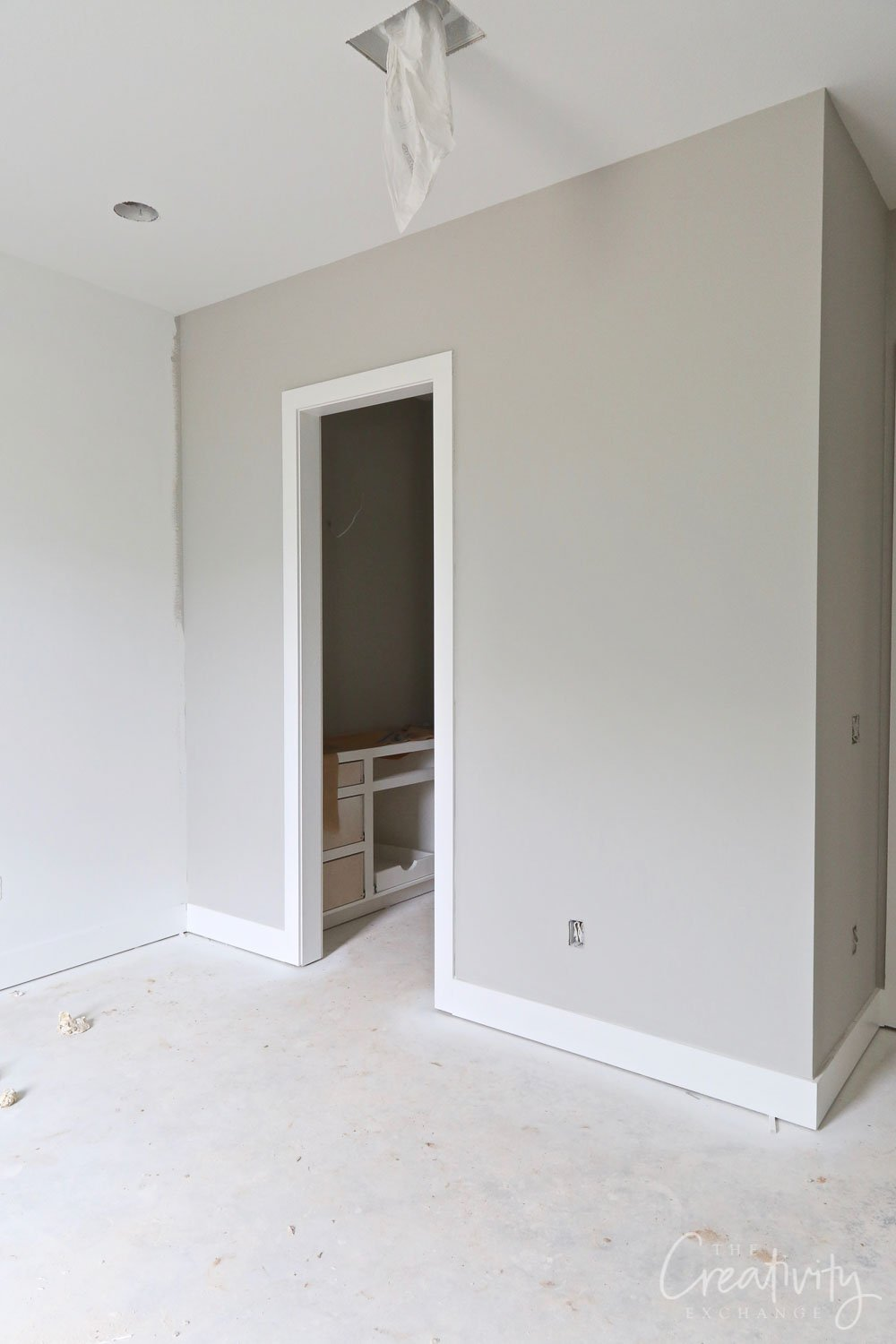 Wall color is Sherwin Williams Repose Gray