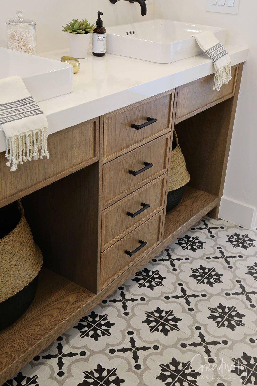 cement tile bathroom floor