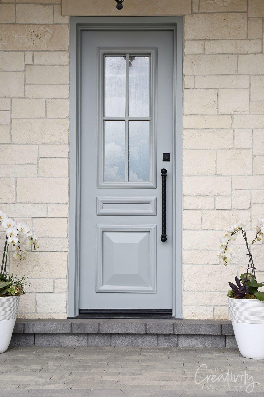 Door color is Benjamin Moore Boothbay Gray
