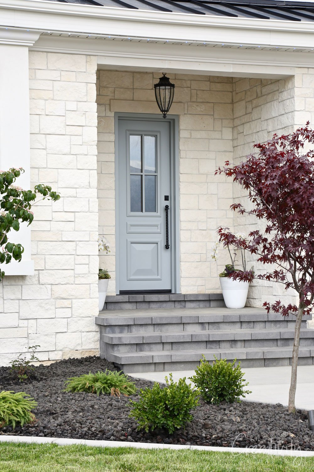 Door color is Benjamin Moore Boothbay Gray