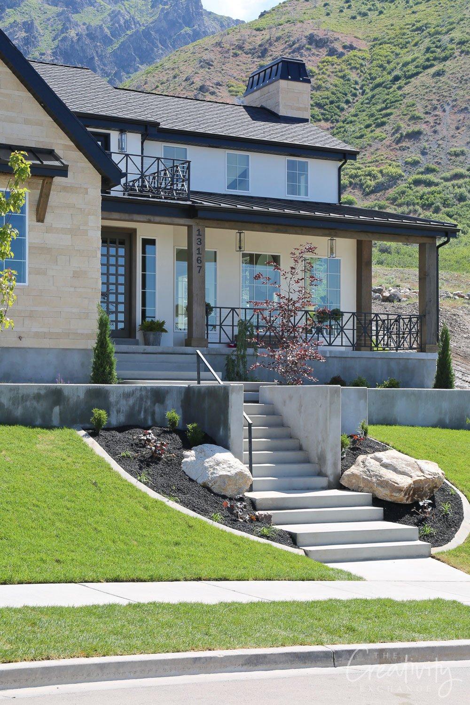 Stone and stucco exterior home