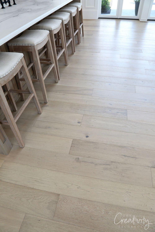 Light white oak wood floor